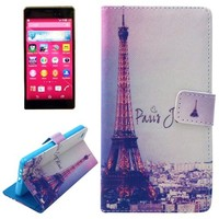 NO MOQ Flip Magnetic Wallet Leather Case for Sony Xperia Z4 with Card Slots