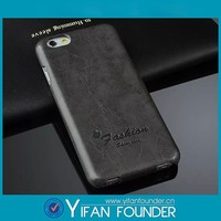 """Cheap price custom logo embossed flip style crazy horse PU leather cellphone case for iphone 6 4.7"""""""
