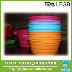 Dog Cat Silicone Collapsible Fashion Feeding Water Feeder Bowl