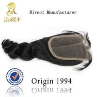velcro peruvian virgin hair bundles with lace magnetic closure box