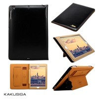Hot selling flip smart leather wholesale price real leather for ipad 2 3 4 case