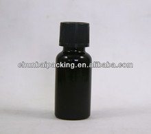 30g black glass bottle with childproof cap