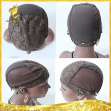 Factory price Jewish mesh weaving wig cap,Browm color top kosher Jewish wig caps for making wigs