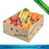 corrugated paper brown fruit tray box/ hot sale corrugated cardboard fruit box