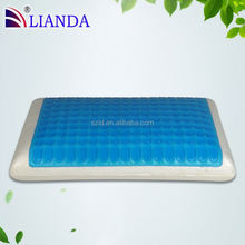 Comfortable OEM summer contour Polyurethane memory foam Cool gel pillow