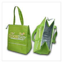 For frozen food insulated non-woven tote cooler bag