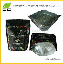 Plastic Flat Zip Lock Pouch Tea Bags Black Foil Zipper Bag
