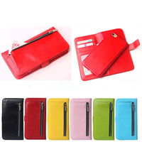 Wallet Case For iphone 6s with photo frame, for 6s detachable leather case with zipper