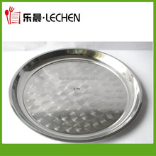 Wholesale Stainless Steel Serving Tray Hotel Dish Dinner Ware Grape Plate Fruit Plate 26cm-80cm 410