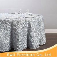 fancy wedding petal taffeta table cloth new hand knit crocheted table cloth