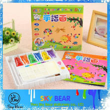 6color non-toxic washable finger painting gift set, acrylic paint kit