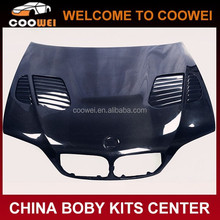 High quality carbon fiber material 98-05years 4-door GTR style engine hood for BMW E46