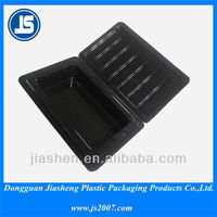 Embossing printing ESD tray , plastic cosmetic packaging with PS