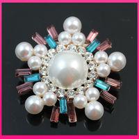 new style crystal rhinestone pin Scarf clips pearls flower brooch