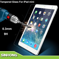 0.3mm 2.5D Round Side 9H Hardness Tempered Glass Screen Protect Film For iPad Mini