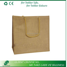 Natural and promotional high quality jute tote bags
