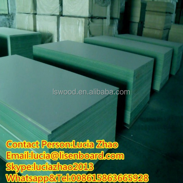 E waterproof mdf board green core melamine with