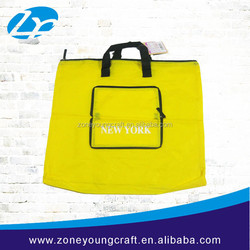 2015 High quality foldable nonwoven tote bag with zipper closure