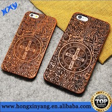 "Luxury Natural Carved Wood Wooden Hard Case Cover Protector for iPhone 6 (4.7"")"