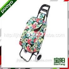 shopping luggage cart China laser film shopping tote bag