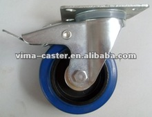 75mm Blue Elastic wheel rim with brake