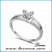 Cz diamond pareja clásica anillo de compromiso