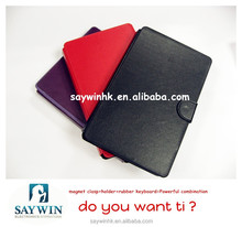 PU Leather Pure color Tablet silicon keyboard case suitable for 7 inch Tabelt PC