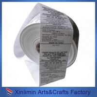 satin face care label/non-woven care label/washable care label