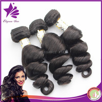 8A high quality xpression braiding hair loose deep wave weave hairstyles indian natural sex hair