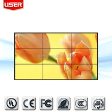 China manufacturing 47 inch tv show background video lcd wall 4.9mm narrow bezel panel IPS 3x3