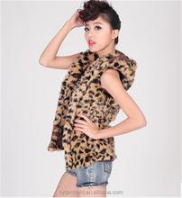 Fashion fake knitted fake fur vest