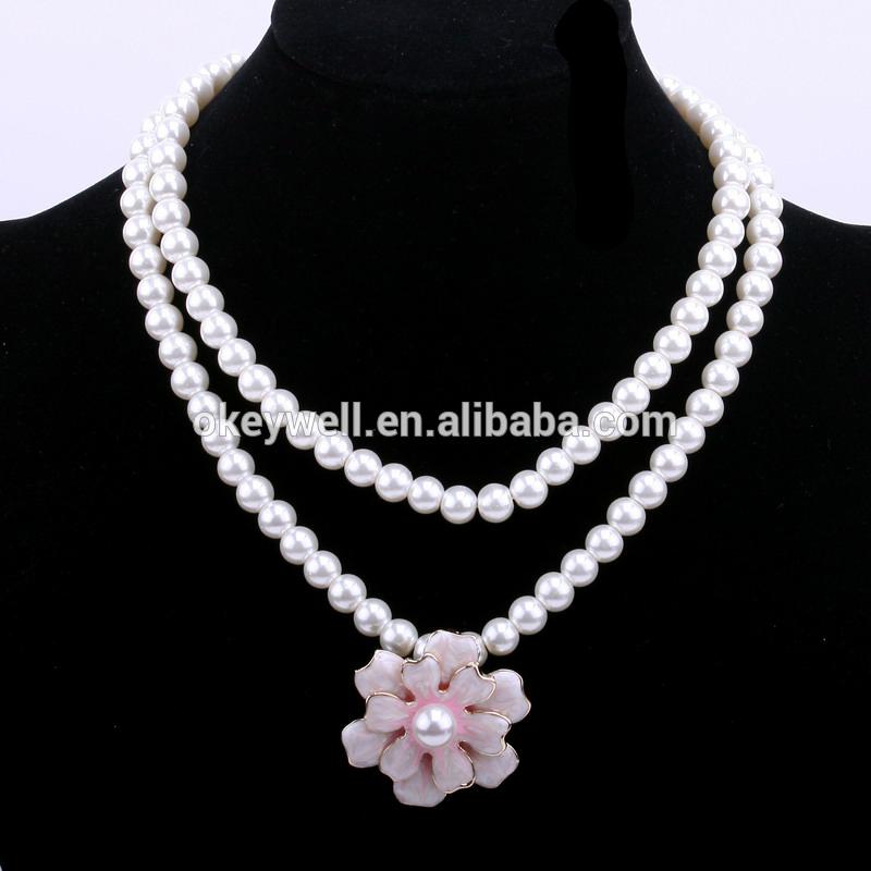 N1331 Oro Largo collar de la joyería para chicas Modernas Perla collar de bisutería 2016 nueva