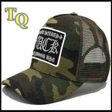 2014 new design camouflage curved brim baseball cap with mesh