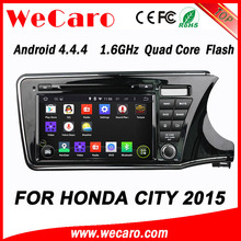 WECARO High End 1080P Android 4.4.4 Car Audio Player For Honda City New