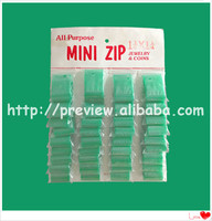 Clear Resealable White Mini Zip Lock Plastic Bags Small Self Sealing Jewelry Packaging