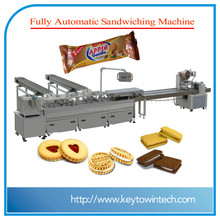 Cream biscuits sandwiching and packing machine