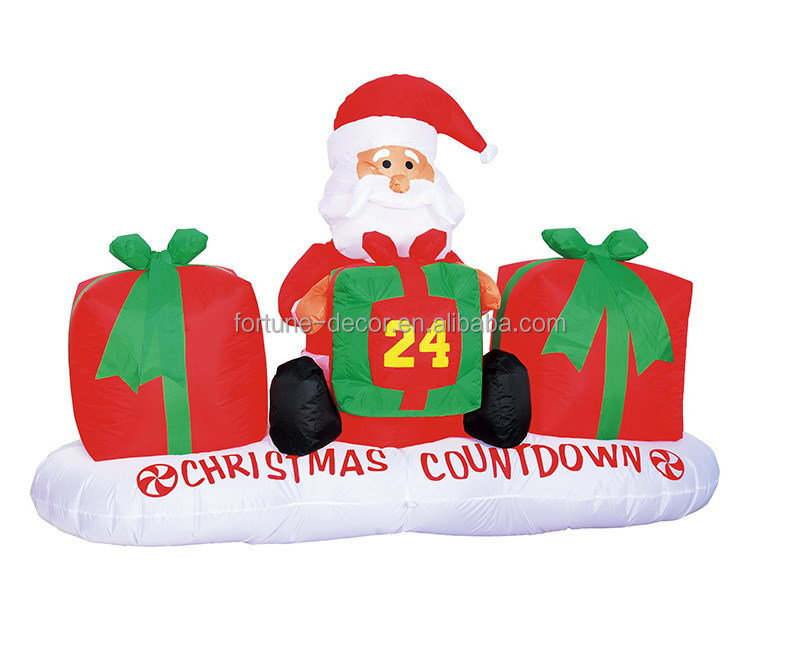 Cm ft polyester christmas inflatable santa claus with