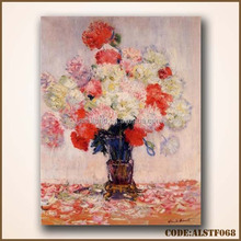 colourful flowers oil painting for room decoration