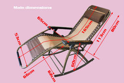 Elder folding rocking deck chair bed for sleeping relaxing time