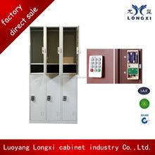 Steel decorative 6 door steel locker storage cabinets