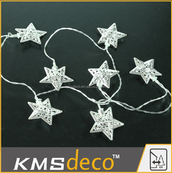 battery operate warm white led christmas star string lights home festival decoration