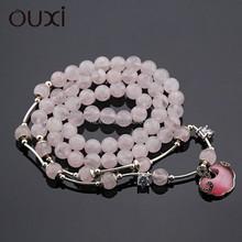 OUXI New arrival women's fashion wholesale Crystal powder bracelet T10024