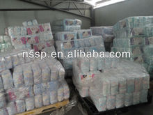 wholesale B grade baby diaper in bales/in stock close to Guangzhou WB155