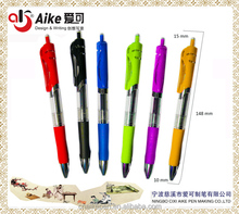 Retractable Premium gel ink roller ball pen,extra fine point