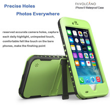 Waterproof Case for Iphone 6 Shockproof PVC Touch ID Protective Plastic Mobile phone Case Cover 4.7 inch Green