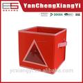 Kdn-01-3 no tejido de color rojo, tablero de papel cuadrado lindo nuevo estilo italia Caja de almacenamiento para el dormitorio