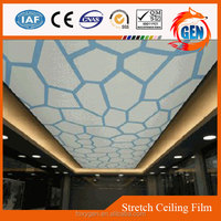 cost-effective new ceiling designs reinforced pvc membrane