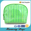 Green stripe printing Travel make up bag custom