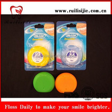 2014 the most popular dental care flavored waxed colored circle shape dental floss