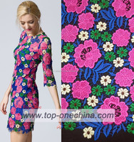 2015 high quality multicolor guipure lace Indonesia cord lace